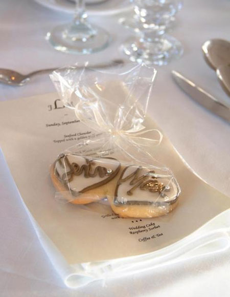 Personalised cookies, wedding favors