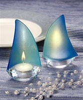 Sailboat candles wedding favours