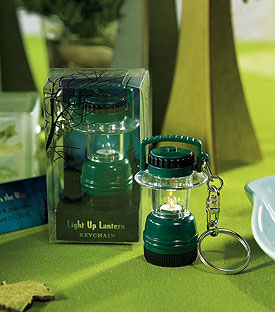 Miniature Camping Lantern Key Chain, spring / outdoor wedding guest favor