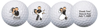 Personalized golf balls wedding favours