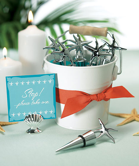 white tin wedding favour