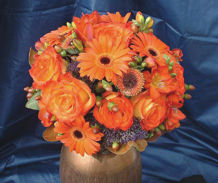 Nosegay bridal bouquet