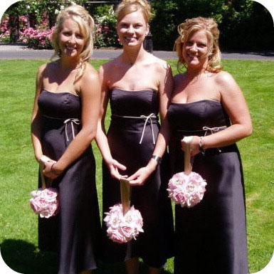 Pomander bouquet kissing balls for your bridesmaids