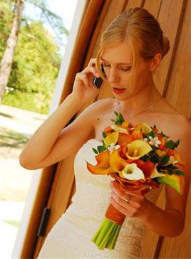 Clutch bridal bouquet
