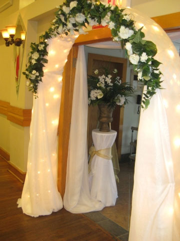 Wedding entrance, floral arch
