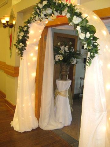 Wedding entrance, floral arch