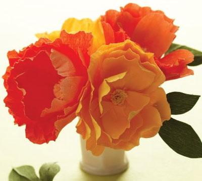 Crepe paper peonies, wedding flowers