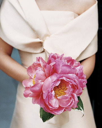 Spring Wedding Flowers: Peony bridal bouquet
