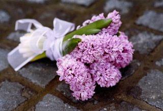 Purple hyacinth easy bridesmaids bouquet