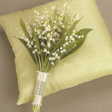 Elegant lily of the valley bridal bouquet