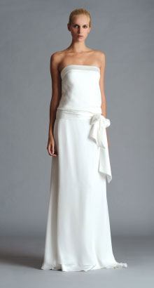 Simple wedding dress by Jenny Yoo - available in Frocks Bridesmaids, Vancouver, Calgary