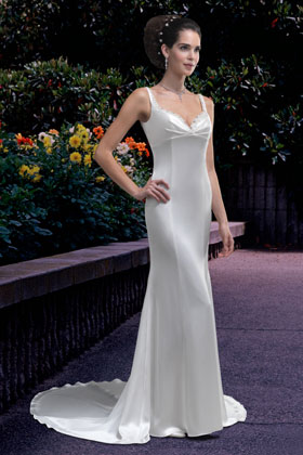 Very simple wedding dress by Venus Bridals (ACS Formals in N.B.)