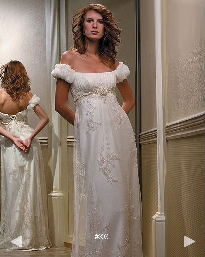 Paradise Garden #803, empire wedding dress gown by Boutique Natalia Exclusif in Montréal