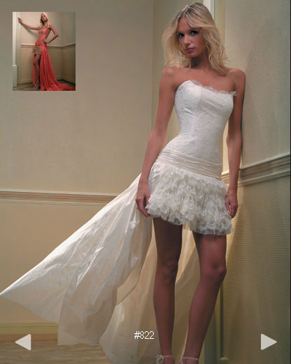 Paradise Garden #803, edgy modern wedding dress by Boutique Natalia Exclusif in Montréal