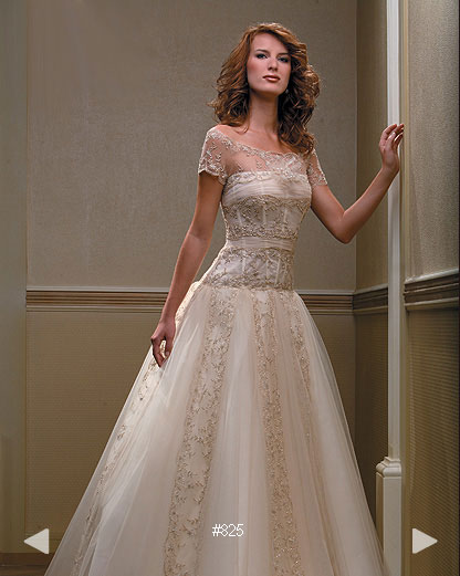 Paradise Garden #825, classically elegant bridal gown by Boutique Natalia Exclusif in Montréal