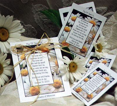 flower seed pack, green wedding favours