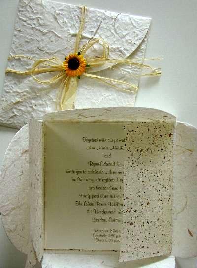 green do-it-yourself wedding invitations