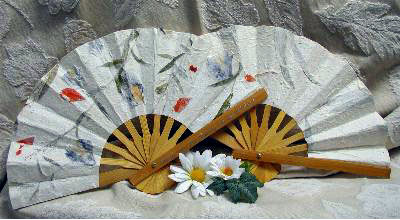 paper fan wedding decor accents