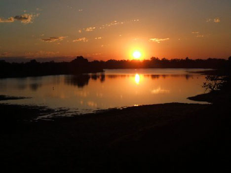 Typically african, romantic scenery in Zambia