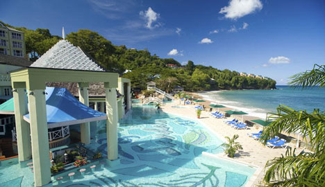 Tropical Honeymoon Destinations: Sandals resort, in St Lucia