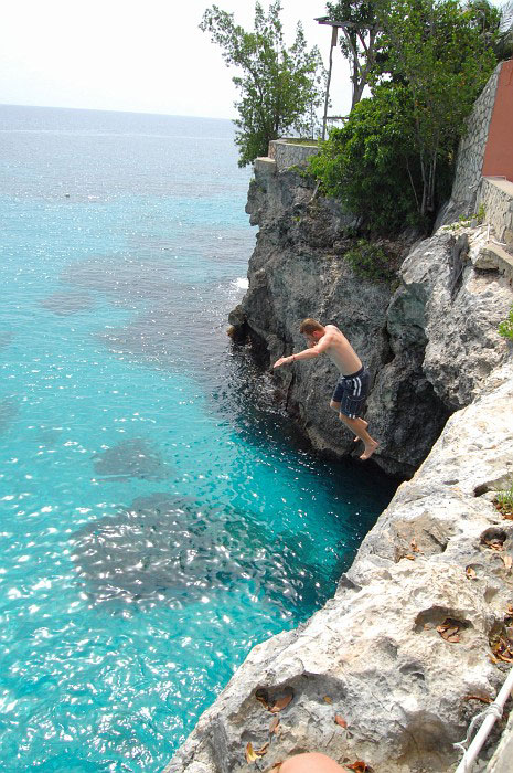 Tropical Honeymoon Destinations: Cliff-diving in Negril