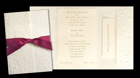 DIY wedding invitation folders, in mullberry stock