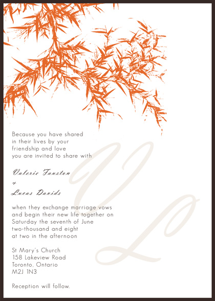 Fall themed, print-your-own, DIY wedding invitation template