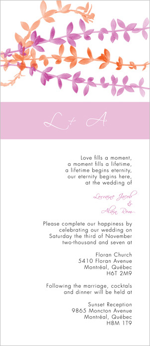 Lovely Leaves, DIY wedding invitation template