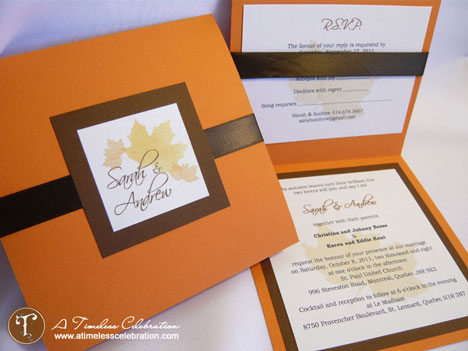 Fall wedding DIY Invitations