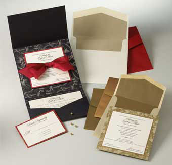 DIY  wedding invitations: pocket-style set