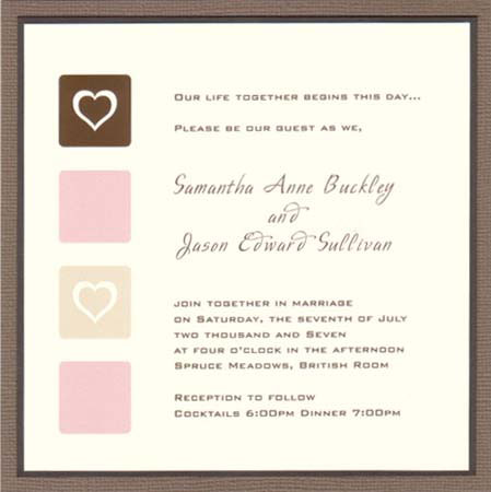 Simplicity wedding invitation by Glimz