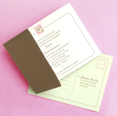 modern wedding invitations: Carte Blanche 1