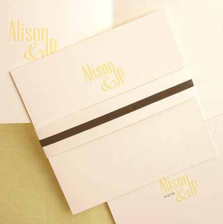modern wedding invitation ideas: Carte Blanche 2