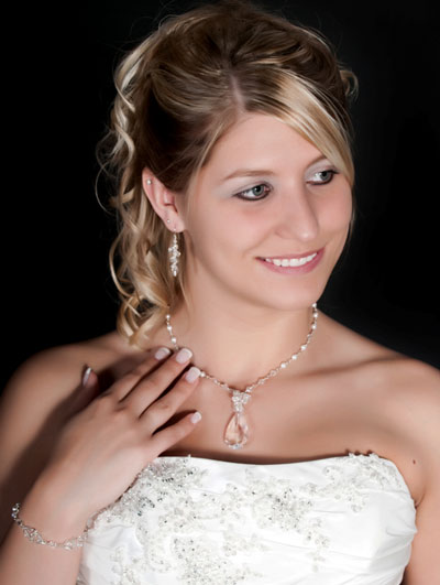 wearing bridal jewellery