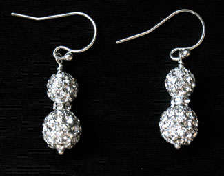 Bridal Jewelry: pave earrings