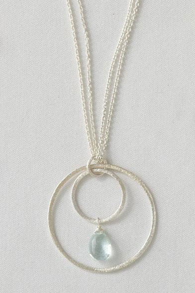 Bridal Jewellery: gemma hoop necklace