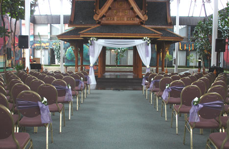 Wedding at Mayfield Inn Pagoda, in Edmonton, Alberta