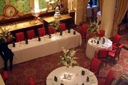 Wedding reception, near Montreal: St James Hotel