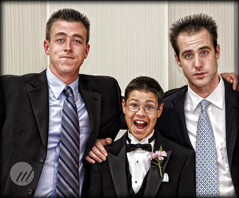 Groom, best man and ring-bearer