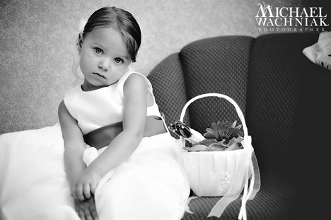 Michael Wachniak wedding photo: flower girl