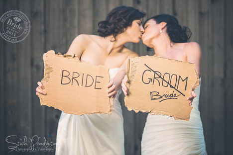 Tracy and Sharon, fan favoutites for Best Wedding Photo of 2014