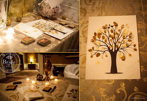 Fingerprint tree, idea for the wedding guests sign-in book