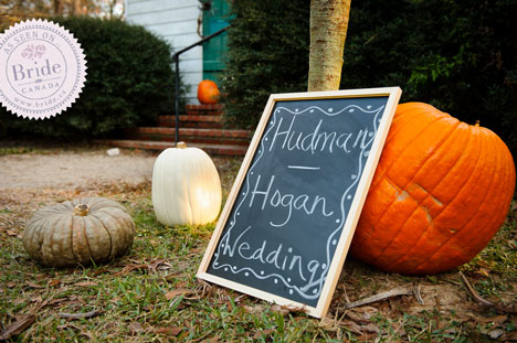 Fall wedding theme - pumpkin, halloween