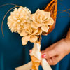 The bouquet was hand-made by the bride!