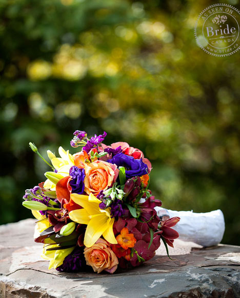 Fall floral bridal bouquet