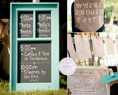 The rustic elegance outdoor wedding decor