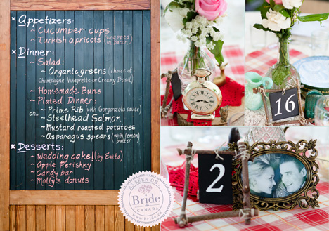Rustic elegance, vitnage wedding table decor