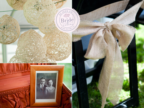 Rustic barnyard wedding decor