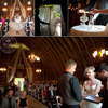 The beautiful ceremony in Evitas barn
