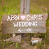 The hand painted wooden sign was the perfect touch for their outdoor ceremony at the Juniper Hotel.